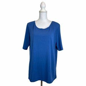 Women's 3XL Blue Top Blouse